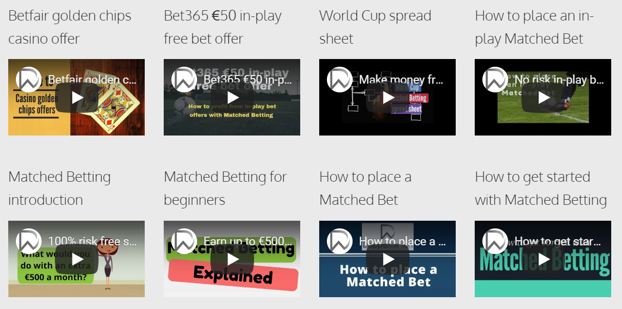 Matched Betting Video Guides